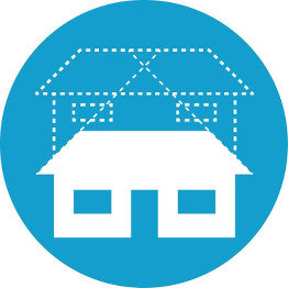 House with a second story outline icon