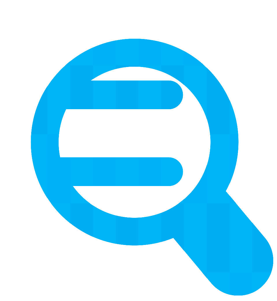 Magnifying glass over document icon